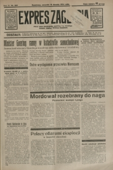 Expres Zagłębia : jedyny organ demokratyczny niezależny woj. kieleckiego. R.9, nr 223 (16 sierpnia 1934)