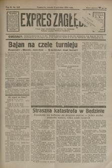 Expres Zagłębia : jedyny organ demokratyczny niezależny woj. kieleckiego. R.9, nr 249 (11 września 1934)