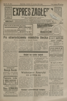 Expres Zagłębia : jedyny organ demokratyczny niezależny woj. kieleckiego. R.9, nr 254 (16 września 1934)