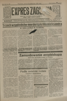 Expres Zagłębia : jedyny organ demokratyczny niezależny woj. kieleckiego. R.9, nr 281 (13 października 1934)