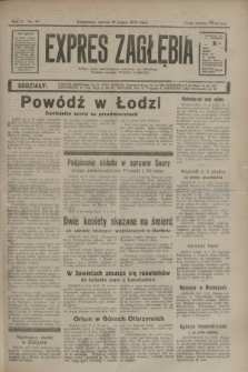 Expres Zagłębia : jedyny organ demokratyczny niezależny woj. kieleckiego. R.10, nr 49 (19 lutego 1935)