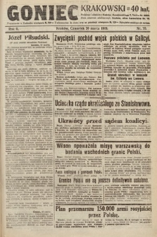 Goniec Krakowski. 1919, nr75