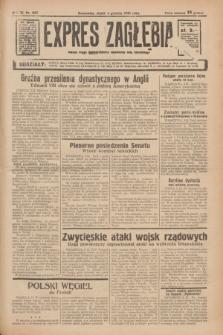 Expres Zagłębia : jedyny organ demokratyczny niezależny woj. kieleckiego. R.11, nr 333 (4 grudnia 1936)