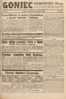 Goniec Krakowski. 1919, nr207