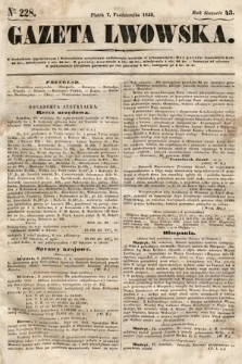 Gazeta Lwowska. 1853, nr228