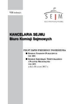 Pełny Zapis Przebiegu Posiedzenia Komisji Samorządu Terytorialnego i Polityki Regionalnej (nr107) z dnia 23 marca 2017 r.