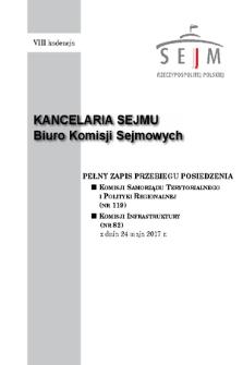 Pełny Zapis Przebiegu Posiedzenia Komisji Samorządu Terytorialnego i Polityki Regionalnej (nr119) z dnia 24 maja 2017 r.