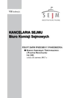 Pełny Zapis Przebiegu Posiedzenia Komisji Samorządu Terytorialnego i Polityki Regionalnej (nr130) z dnia 21 czerwca 2017 r.