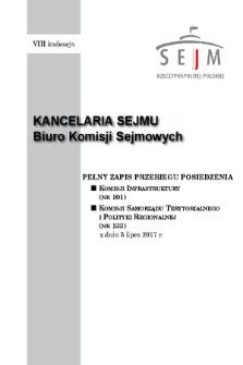 Pełny Zapis Przebiegu Posiedzenia Komisji Samorządu Terytorialnego i Polityki Regionalnej (nr133) z dnia 5 lipca 2017 r.