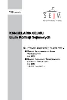 Pełny Zapis Przebiegu Posiedzenia Komisji Samorządu Terytorialnego i Polityki Regionalnej (nr135) z dnia 5 lipca 2017 r.