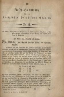 Gesetz-Sammlung für die Königlichen Preußischen Staaten. 1860, Nr. 12 (21 April)
