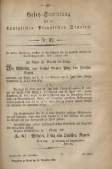 Gesetz-Sammlung für die Königlichen Preußischen Staaten. 1860, Nr. 32 (19 Novermber)