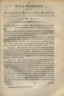 Gesetz-Sammlung für die Königlichen Preußischen Staaten. 1819, No. 9 (1 Mai) + wkładka