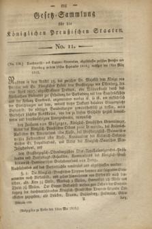 Gesetz-Sammlung für die Königlichen Preußischen Staaten. 1819, No. 11 (15 Mai)