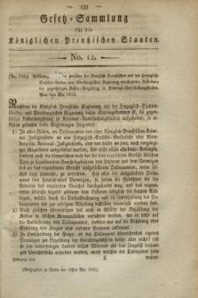 Gesetz-Sammlung für die Königlichen Preußischen Staaten. 1819, No. 12 (29 Mai)