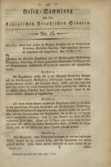 Gesetz-Sammlung für die Königlichen Preußischen Staaten. 1819, No. 13 (30 Juni)