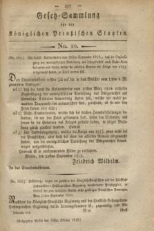 Gesetz-Sammlung für die Königlichen Preußischen Staaten. 1819, No. 20 (26 Oktober)