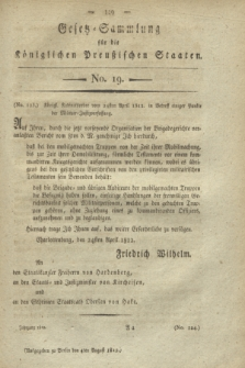 Gesetz-Sammlung für die Königlichen Preußischen Staaten. 1812, No. 19 (4 August)