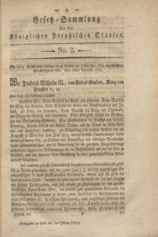 Gesetz-Sammlung für die Königlichen Preußischen Staaten. 1822, No. 2 (2 Februar)