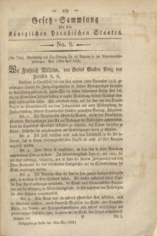 Gesetz-Sammlung für die Königlichen Preußischen Staaten. 1822, No. 8 (14 Mai)
