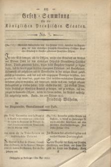 Gesetz-Sammlung für die Königlichen Preußischen Staaten. 1822, No. 9 (16 Mai)
