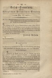Gesetz-Sammlung für die Königlichen Preußischen Staaten. 1822, No. 10 (4 Juni)