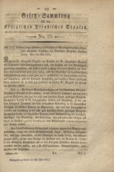 Gesetz-Sammlung für die Königlichen Preußischen Staaten. 1822, No. 12 (1 Juli)