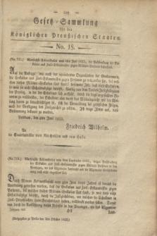 Gesetz-Sammlung für die Königlichen Preußischen Staaten. 1822, No. 18 (5 Oktober)