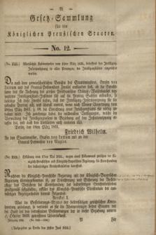 Gesetz-Sammlung für die Königlichen Preußischen Staaten. 1834, No. 12 (28 Juni)