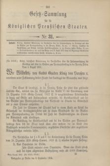 Gesetz-Sammlung für die Königlichen Preußischen Staaten. 1904, Nr. 31 (3 September)