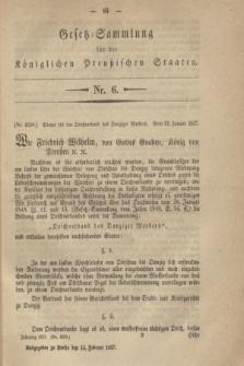 Gesetz-Sammlung für die Königlichen Preußischen Staaten. 1857, Nr. 6 (13 Februar)