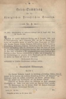 Gesetz-Sammlung für die Königlichen Preußischen Staaten. 1861, Nr. 3 (22 Januar)