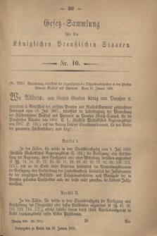 Gesetz-Sammlung für die Königlichen Preußischen Staaten. 1869, Nr. 10 (30 Januar)