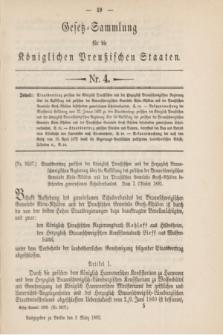 Gesetz-Sammlung für die Königlichen Preußischen Staaten. 1892, Nr. 4 (3 März)