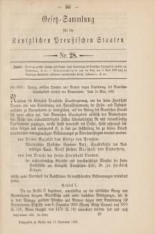Gesetz-Sammlung für die Königlichen Preußischen Staaten. 1892, Nr. 28 (13 September)