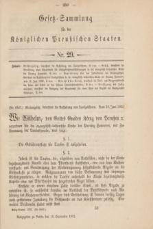 Gesetz-Sammlung für die Königlichen Preußischen Staaten. 1892, Nr. 29 (15 September)