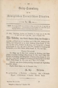 Gesetz-Sammlung für die Königlichen Preußischen Staaten. 1892, Nr. 35 (7 Dezember)
