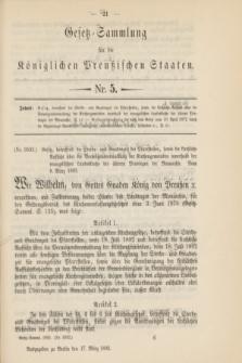 Gesetz-Sammlung für die Königlichen Preußischen Staaten. 1893, Nr. 5 (17 März)
