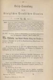 Gesetz-Sammlung für die Königlichen Preußischen Staaten. 1895, Nr. 41 (24 October)