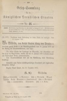 Gesetz-Sammlung für die Königlichen Preußischen Staaten. 1895, Nr. 46 (28 Dezember)