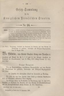 Gesetz-Sammlung für die Königlichen Preußischen Staaten. 1896, Nr. 24 (16 September)