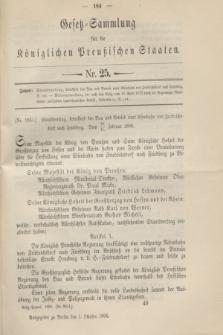 Gesetz-Sammlung für die Königlichen Preußischen Staaten. 1896, Nr. 25 (1 October)