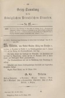 Gesetz-Sammlung für die Königlichen Preußischen Staaten. 1896, Nr. 27 (28 October)