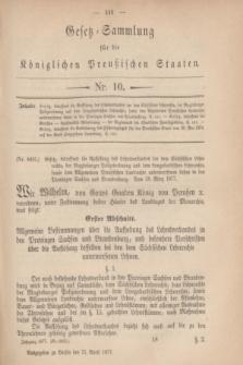Gesetz-Sammlung für die Königlichen Preußischen Staaten. 1877, Nr. 10 (21 April)