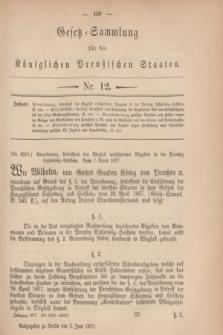 Gesetz-Sammlung für die Königlichen Preußischen Staaten. 1877, Nr. 12 (2 Juni)