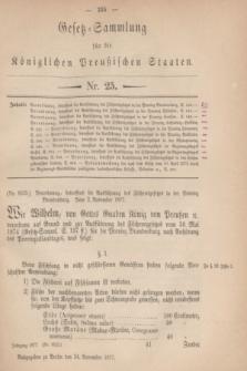 Gesetz-Sammlung für die Königlichen Preußischen Staaten. 1877, Nr. 25 (24 November)