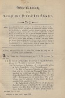 Gesetz-Sammlung für die Königlichen Preußischen Staaten. 1898, Nr. 2 (27 Januar)