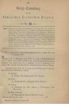 Gesetz-Sammlung für die Königlichen Preußischen Staaten. 1898, Nr. 26 (28 Juli)
