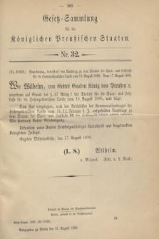 Gesetz-Sammlung für die Königlichen Preußischen Staaten. 1898, Nr. 32 (31 August)