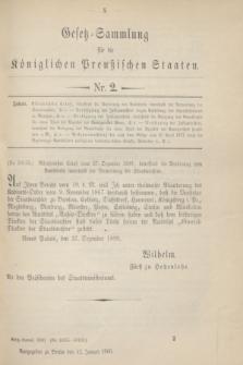Gesetz-Sammlung für die Königlichen Preußischen Staaten. 1900, Nr. 2 (12 Januar)